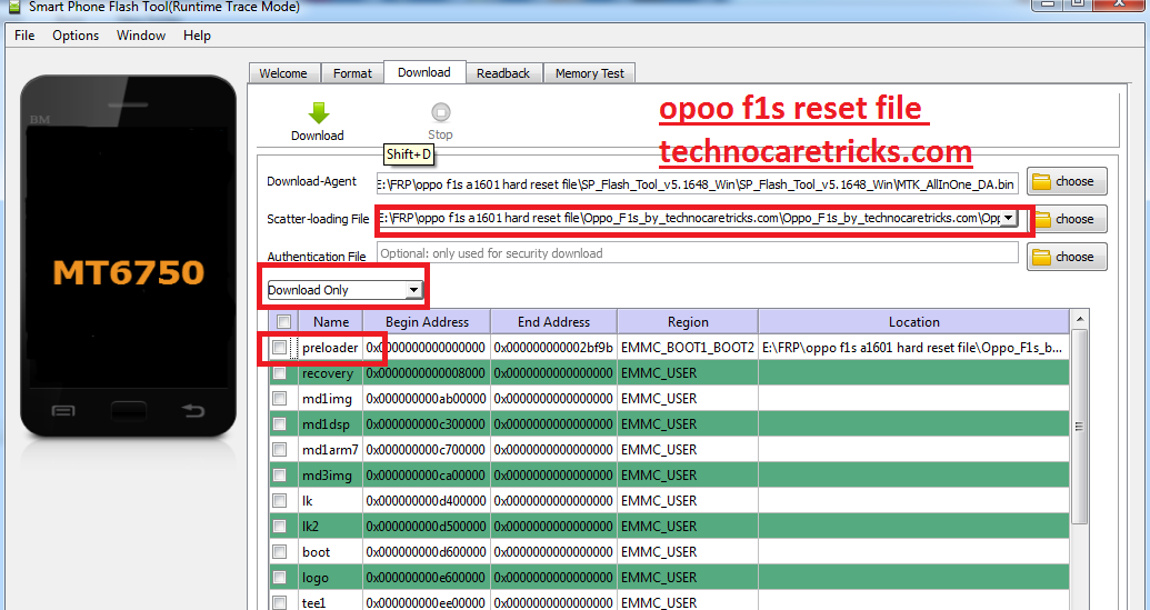 Oppo f1s hard reset solution with reset file tested and working